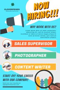 Job Vacancy Poster 海报 template