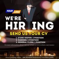 Job vacancy template Instagram Post