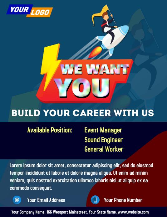 Job Vacancy Template Iflaya (Incwadi ye-US)