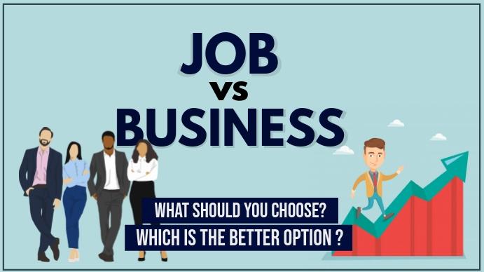 job vs business YOUTUBE THUMBNAIL YouTube-miniature template