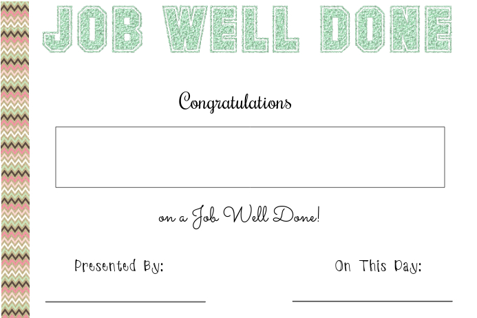 Job well done certificate template postermywall job well done certificate customize template yelopaper Choice Image