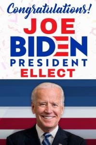 Joe Biden Congratulations Poster Template Affiche