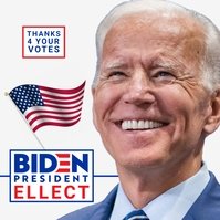 Joe Biden Thanksgiving Poster Template Logotipo