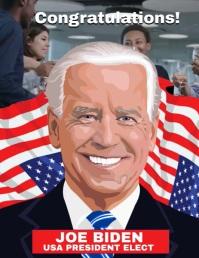 Joe Biden Contratulations Poster Template Flyer (format US Letter)
