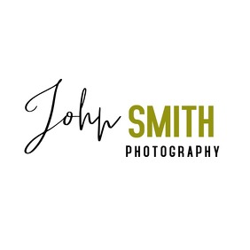 John smith Black and Gold Signature logo