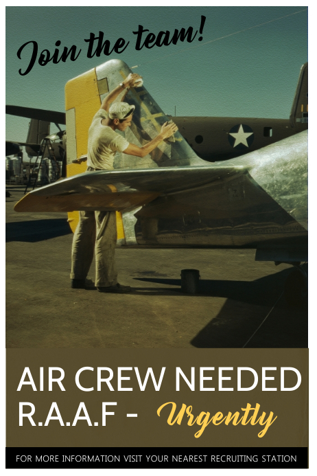 Join Air Force Poster Template