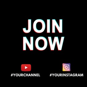 Join Now Subscribe invitation video animation Instagram na Post template