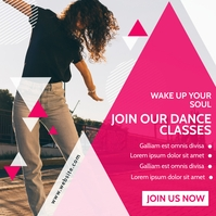 join our dance classes instagram post adverti template