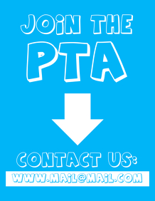 Join The PTA Parent Teacher Association Flyer