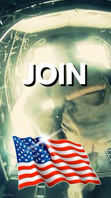 Join US ARMY Air Corps Pantalla Digital (9:16) template