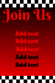 Join us - red template