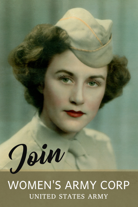 Join Women's Army Poster