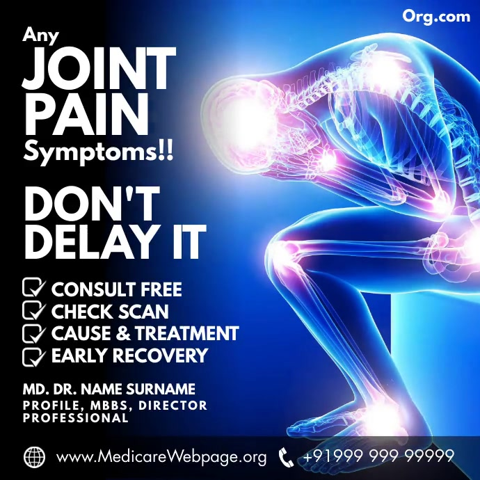 Joint Pain Consultant 2021 Template Persegi (1:1)