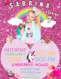 Jojo Siwa BIRTHDAY INVITATION