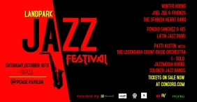 jazz Capa para evento do Facebook template