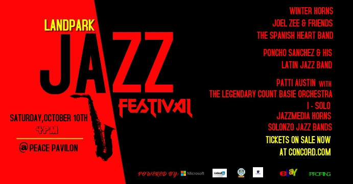 jazz Facebook Event Cover template