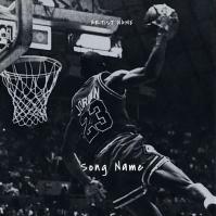 Jordan 23 mixtape album cover template