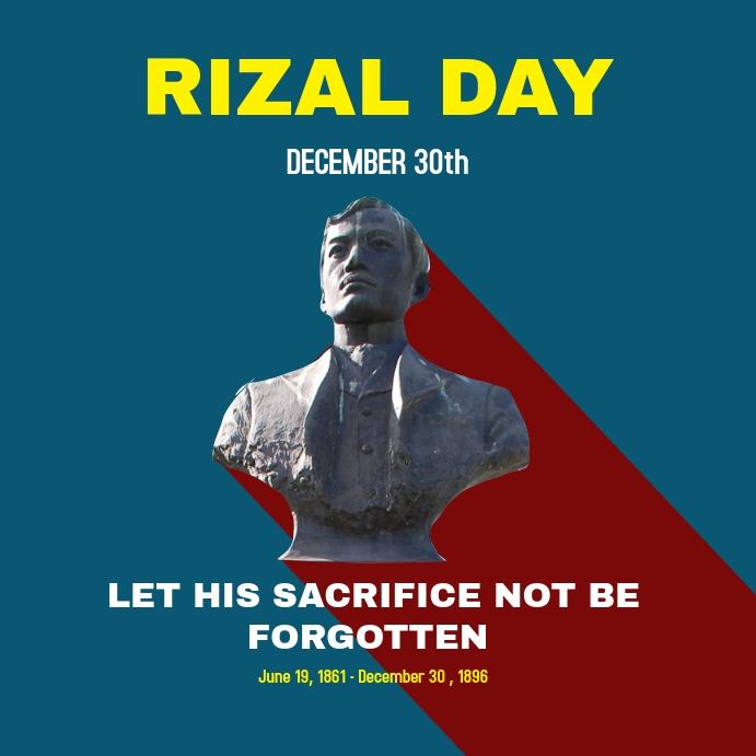 Josè Rizal celebrations Instagram post template