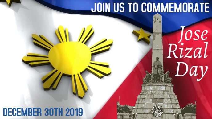 Jose Rizal Day Video Template Digital na Display (16:9)