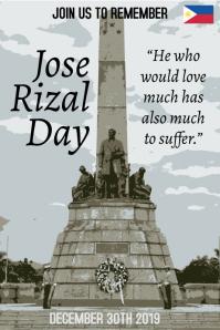 Jose Rizal Poster Template