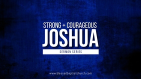 Joshua sermon series Digital Display (16:9) template