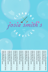 Josie's Cleaning Service with tear-off tabs