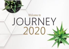 Journey 2020 Postcard template
