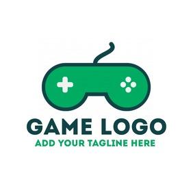 Joystick game logo for app template