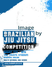 Judo Competition Poster template