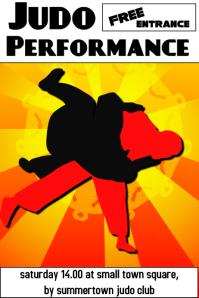 judo - martial art poster template