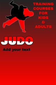 judo training template Poster