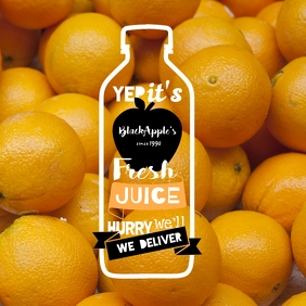 Juice & Beverages Delivery - orange