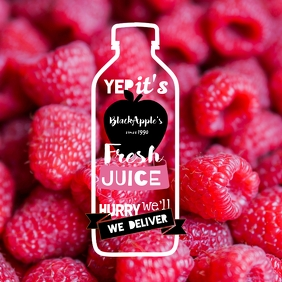 Juice & Beverages Delivery - Raspberry Pink