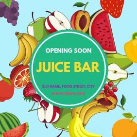 Juice bar opening