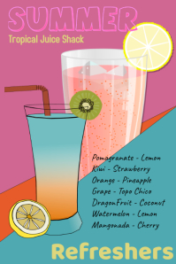 juice bar/teas/fruit juices/refreshers/juice