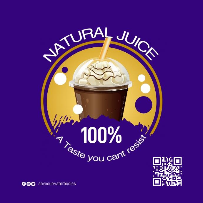 juice coffee logo template