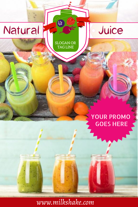 juice Plakat template