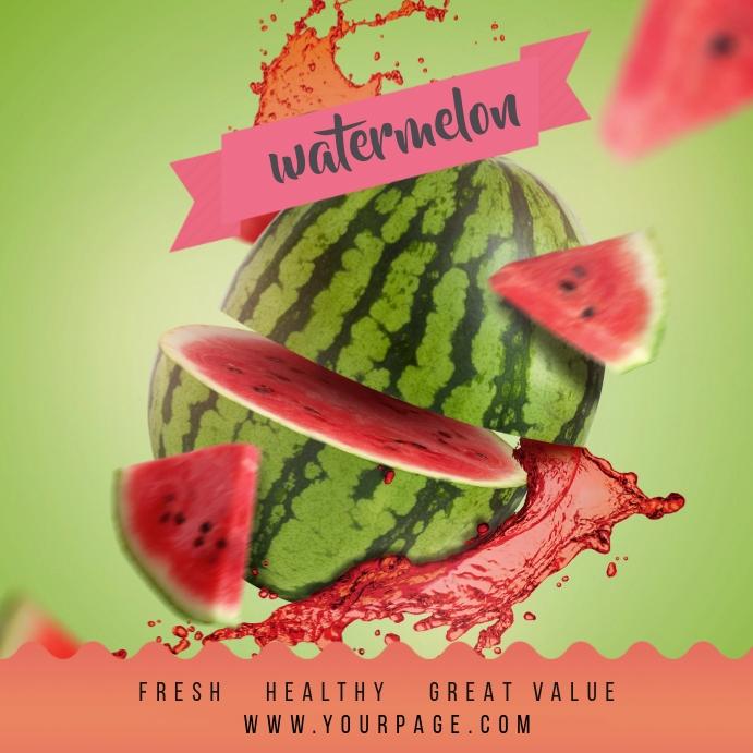 Juice Fruit Instagram Post template