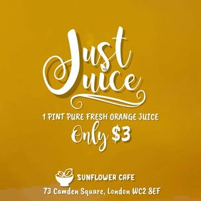 Juice Smoothie Bar Video Template