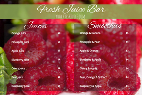 Juice Smoothie Menu Template