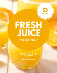 Juice stand market Flyer Design template