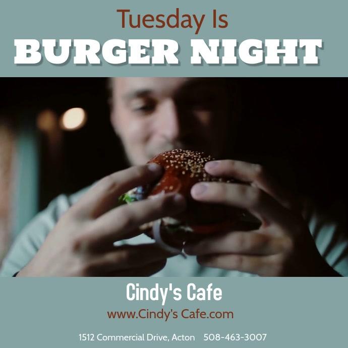 Juicy Hamburger Night Video