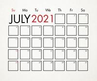 July 2021 Calendar Template Medium Reghoek