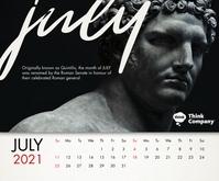 July 2021 Calendar Template Mittelgroßes Rechteck