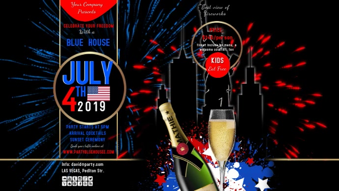 july 4th 10 insta video youtube template