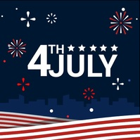 july 4th Message Instagram template