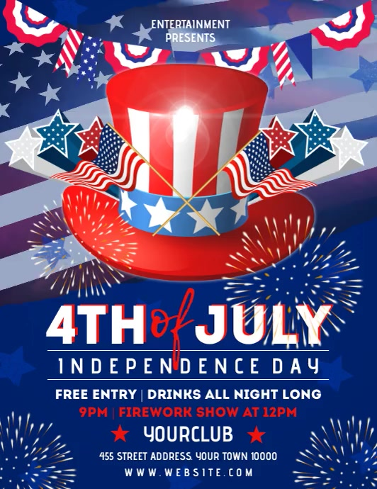 July 4th Flyer (US-Letter) template