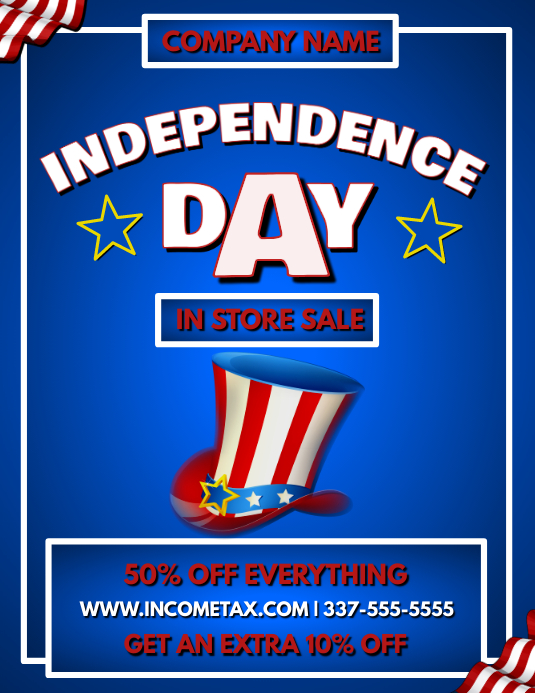 JULY 4TH SALE FLYER