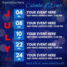 July Calendar of Events Video