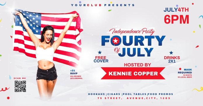 fourth of July Celebration ads Iklan Facebook template